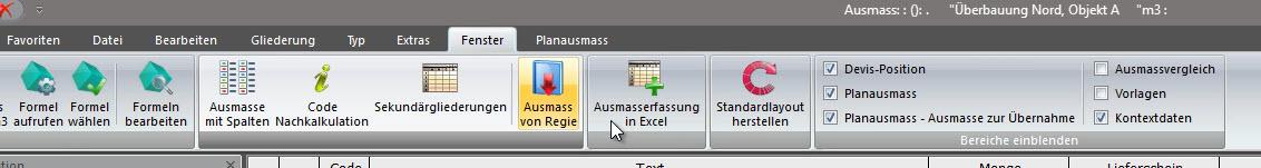 Excel-Ausmass Bild 1