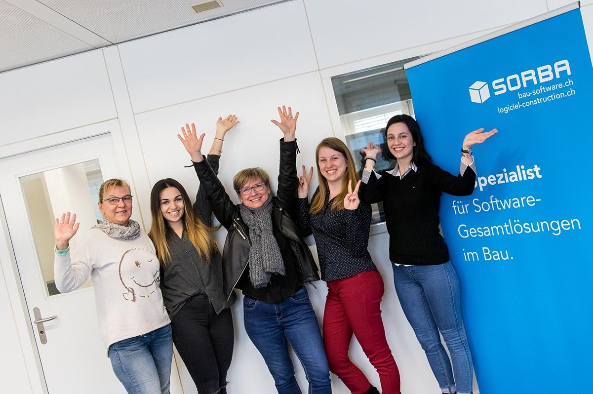 Mitarbeiterinnen von SORBA Software