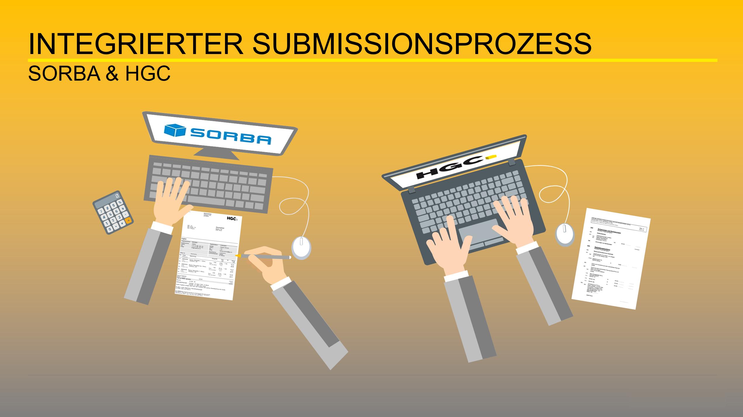 Computer vernetzt zwischen HGC und SORBA