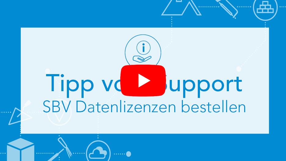 Tipp vom Support SBV Datenlizenzen